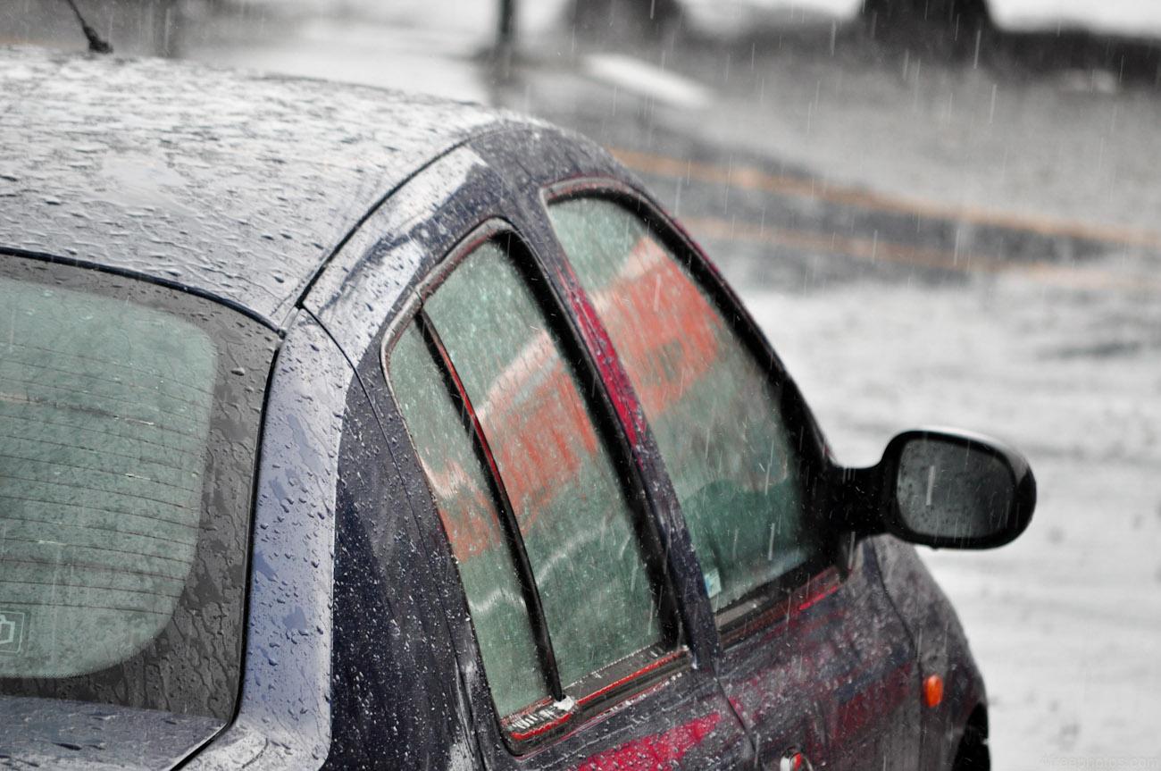 Carro na chuva