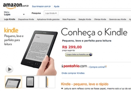 Kindle ? venda no site brasileiro da Amazon