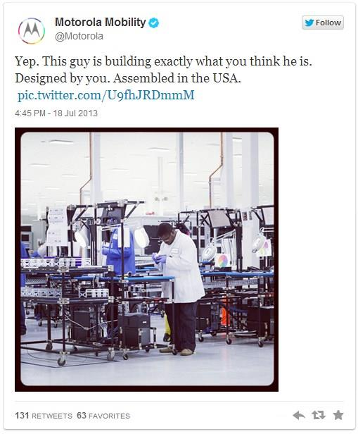 Fabricação do Moto X