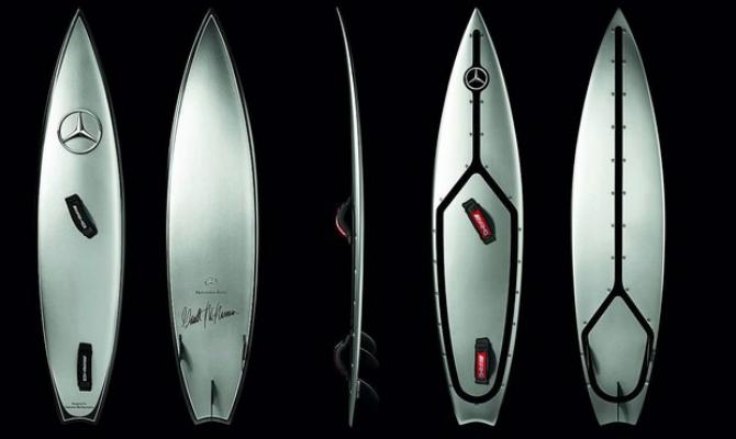 Prancha de surf da Mercedes