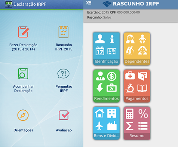 App para preencher o IRPF 2015