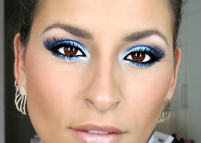 Azul na maquiagem