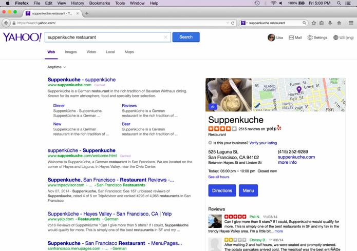 Buscador Yahoo para o Mozilla