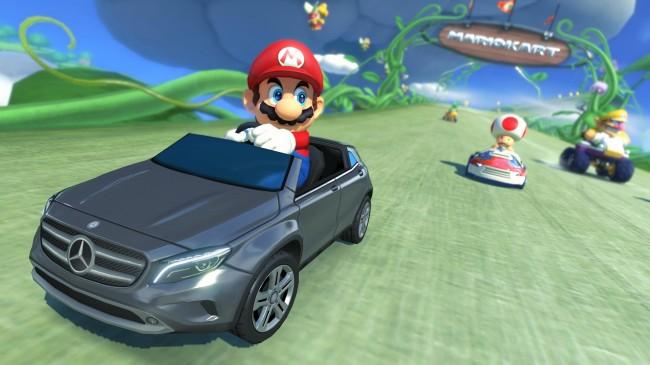 Carros da Mercedes-Benz no Mario Kart 8