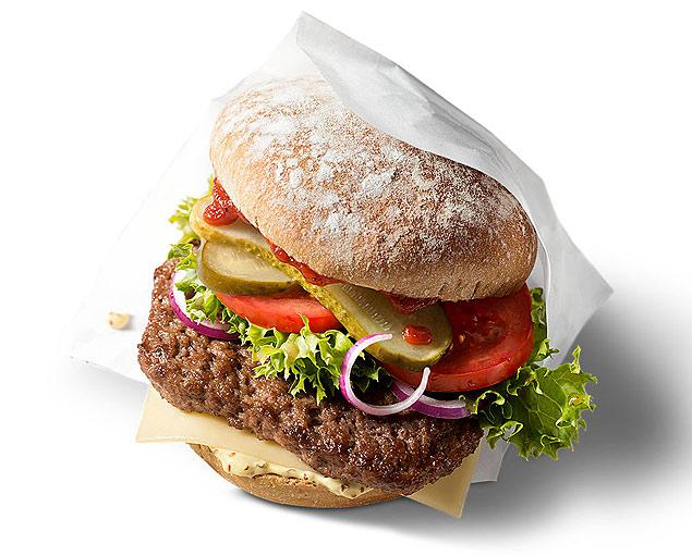 Hambúrguer orgânico do McDonald's