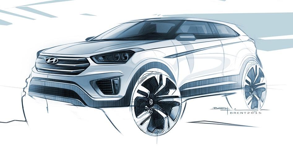 Desenho do Hyundai Creta