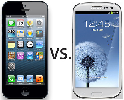 iPhone 5 x Galaxy S3