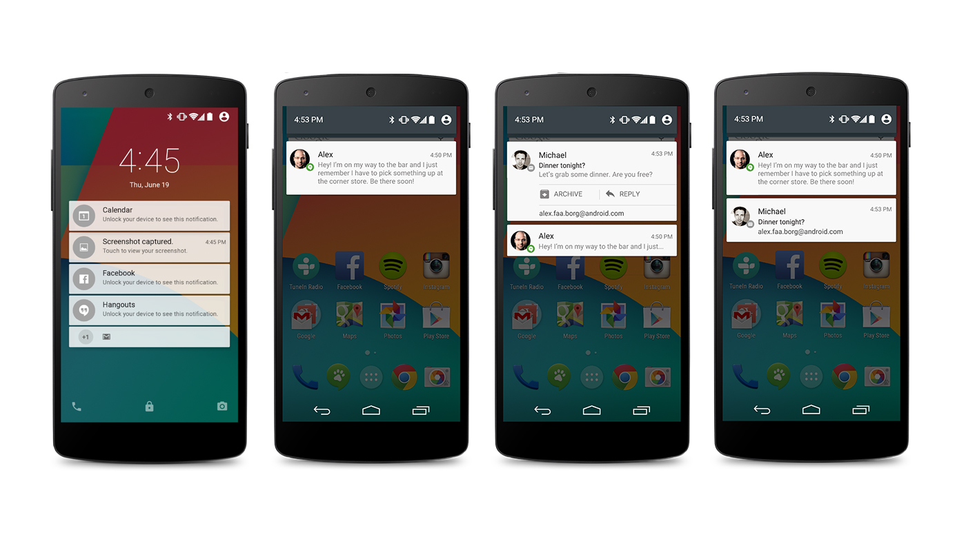 Novidades do Android Lollipop