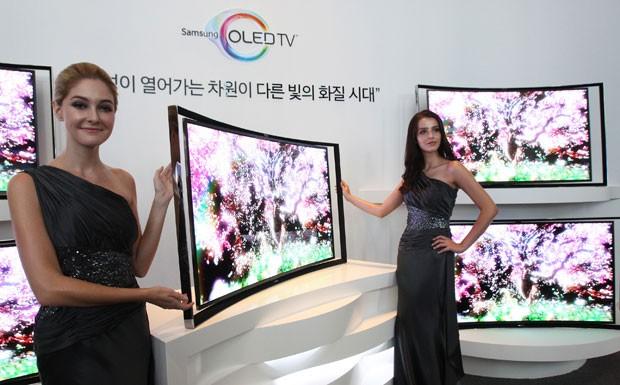 south korea samsung c fran Samsung   Venda da Nova TV OLED com Tela Curva