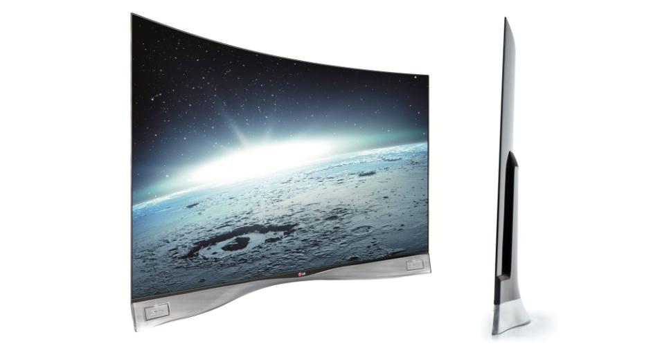 LG TV com tela curva