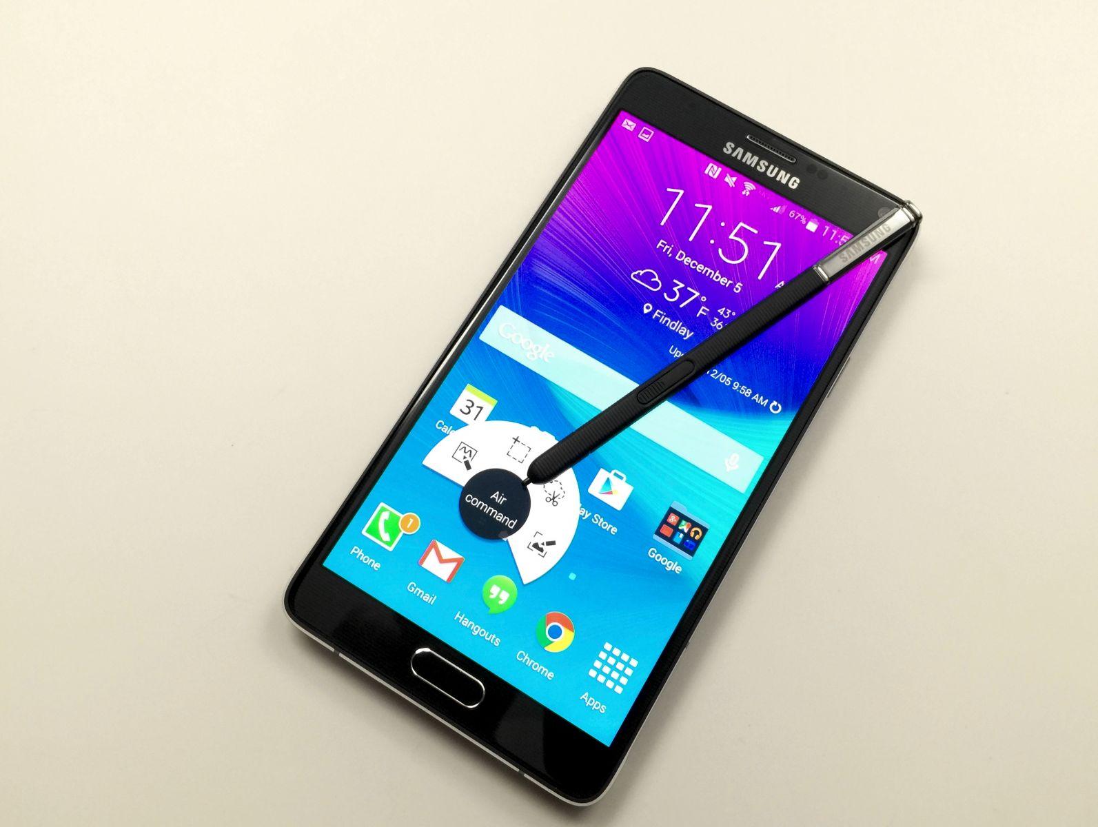Android Lollipop no Samsung Galaxy Note 4