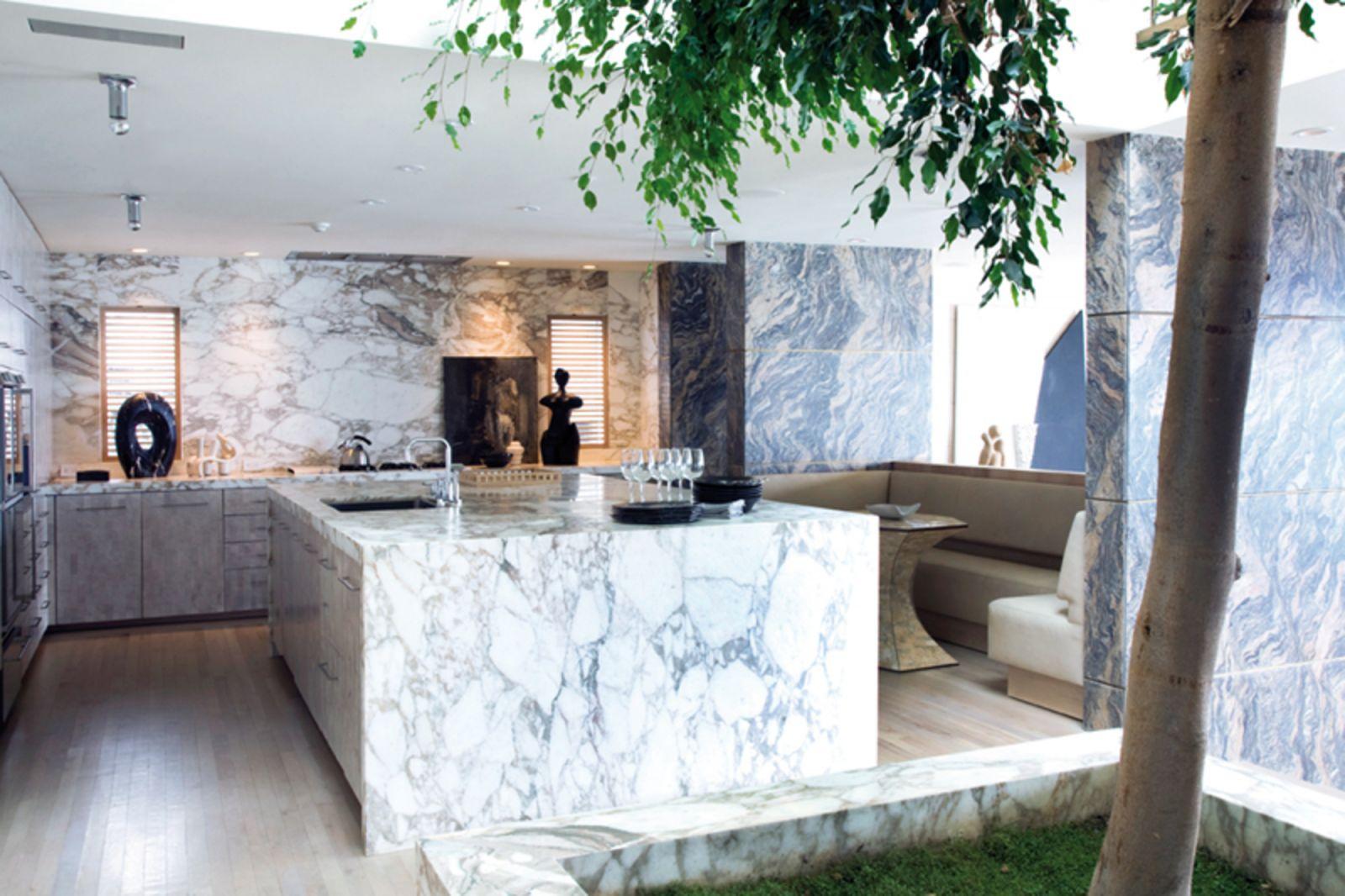 Decoração com mármore