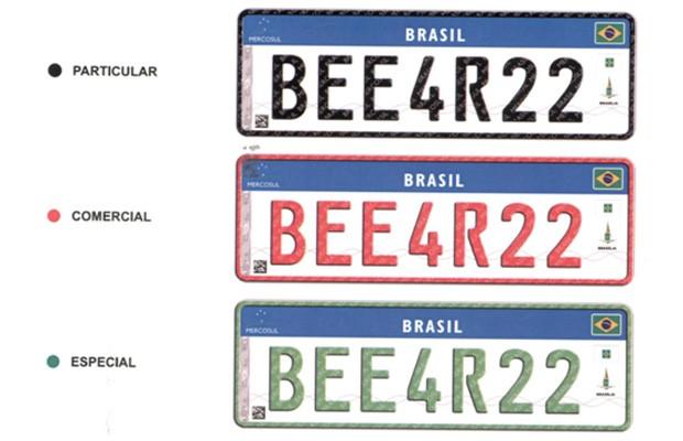 Novas placas do Mercosul