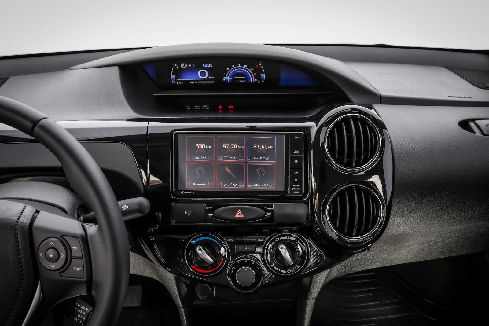 Toyota Etios 2018 interior